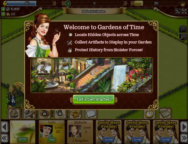 gardens of tyme Top Juegos Facebook 2011